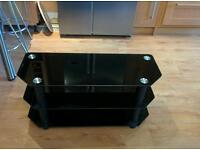 Black glass TV stand - up to 42 inch