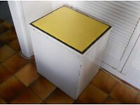 Retro Painted Laundry Box, Ottoman, Bathroom Seat, Shoe Box