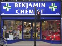 Full-Time Pharmacy Counter Assistant, LONDON N16 - EXPERIENCED IN SALES