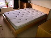 Ikea double bed Mattress + Topper