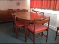 Danish Styled McIntosh Dining Table & 6 matching Chairs.
