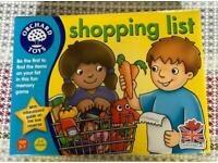 Shopping list from orchard games