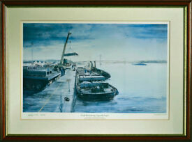 Framed Limited Edition Print Of Forth Road Bridge Upgrade Project