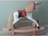 Handmade wooden Unicorn Rockinghorse suitable for 2 years upwards.