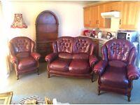 Italian Gemalinea Leather Suite