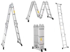 Folding Platform Ladder 16feet Scaffold Ladders 7Function Aluminum Material 211032