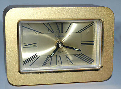 Vintage 1970's Rhythm of Japan Transistor Mantel Clock - FREE P&P [PL3078]