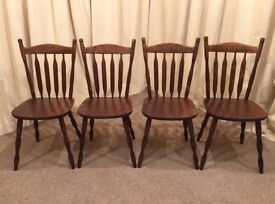 4 Slat Back Dining Chairs / Kitchen Chairs - See Delivery