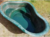 Green 1650×110×410 mm Pond liner in good condition.