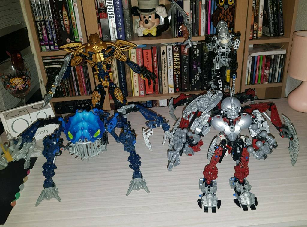 Lego Bionicle Bundle Axonn Brutaka Vezron No Cape Fenrakk