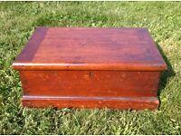 Solid oak 1940s box cabinet chest, made locally (Suffolk/Norfolk) 15 x 10 x 6 inch antique vintage
