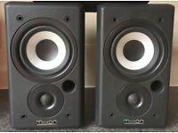 60W Denon Mission 70 2 Way reflex monitor bookshelf speakers GREAT SOUNDS!