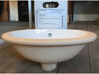 2 x RAK Lily 460mm undercounted basins with wastes