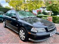 VOLVO S40 1.8i Automatic Petrol Saloon Black 1998 - 61k Mi, 1 Prev Owner, 2 Keys