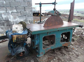 diesel saw bench petter twin cylinder