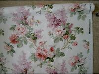 SANDERSONS 'Sorilla' glazed cotton curtaining fabric on roll