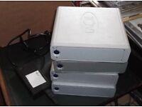 LACIE D2 IDE HARD DRIVES. 1 x 120GB, 2 X 160GB AND 1 X 200GB INC 1 X ORIGINAL ACML-51 POWER SUPPLY