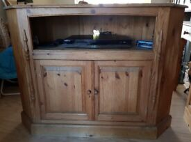 Large tv unit with shelf and cupboard