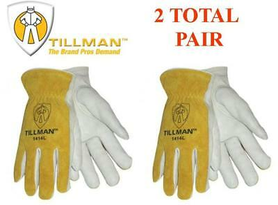 Tillman 1414 Drivers Glove Grainsplit Leather Cowhide Sizes M L Xl 2 Pairs
