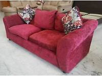 Red sofa with cushions in vgc can deliver 07808222995