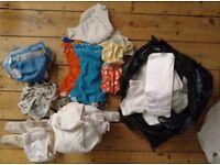 Huge bundle re-usable nappies inc bum genius, thirsties, fuzzi buns, tots bots, little lamb + liners