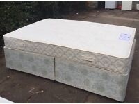 Divan double with mattress meyers orthopaedic VGC free delivery