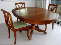 Extendable Dining Table and Six Chairs by Grange