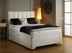 DIVAN BEDS ! ORTHOPAEDIC- MEMORY- DEEP QUILT & 1000 POCKET SUPRUNG BED- CHEAP PRICE