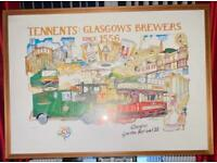 Vintage tennents Glasgow Brewers picture