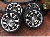 Genuine BMW 19 inch spider alloy wheels