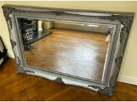 Antique traditional style wall mirror, bevelled edging