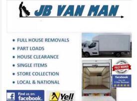 House removals Van man services large Luton van & Tail Lift 5 star reviews
