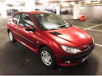 Peugeot 206 1.4 LX 3dr Automatic Red Petrol 12 month MOT £750 ONO