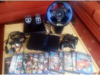 Sony Playstation 2 PS2, Controller, Games, Logitech Wheel and Pedals