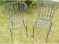 2 Sculptural Wrought Iron Garden Chairs - £55 the pair