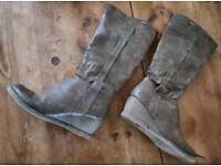 Women's leather high boots