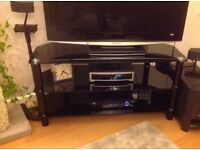 Good quality Black glass and Chrome TV stand from Cole Brothers