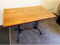 Wood & Metal Dining Room Table - 1.12m Long x 0.7m Wide x 0.75m High