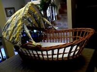 Designer Wicker Bassinet