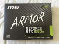 MSI NVIDIA GeForce GTX 1080 TI ARMOR 11G OC 11 GB GDDR5 X 352-Bit Memory