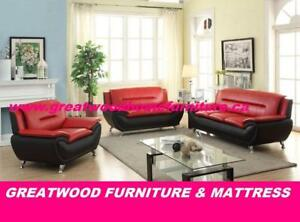MODERN STYLE 3 PIECE SOFA SET FOR $799 ONLY..CHOICE OF COLOUR