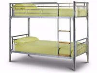 BRAND NEW *** PRINCE SINGLE METAL BUNK BED WITH MATTRESS N KIDS BED CALL NOW