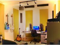 Professional Soundproofed/treated recording/writing room share in London Fields
