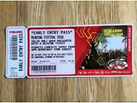 Reading Festival 2018 Early Entry Pass