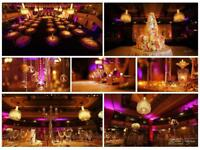 Wedding decor and planners specialist decoration Asian Indian English stage sofa hire backdrop