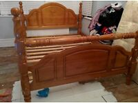 King size wooden bed frame for sale