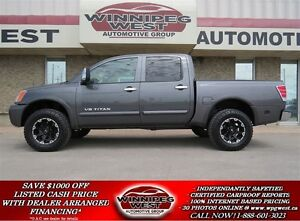 2012 Nissan Titan LIFTED SL EDITION CREW CAB 4X4,LEATHER, SUNROO