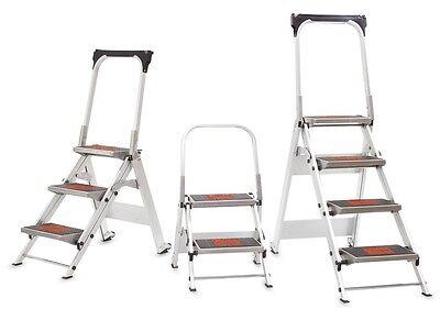 Little Giant Safety Steps - Industrial Aluminium Step Ladder W Anti-slip Treads