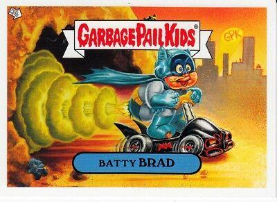 2005 GARBAGE PAIL KIDS BATTY BRAD PROMO CARD ANS 4/5  BATMAN BATMOBILE PARODY