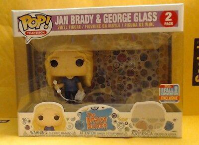 Funko Pop TV! Brady Bunch: Jan Brady & George Glass *2 Pack* 2018 Fall Conv Excl (Brady Bunch Jan)